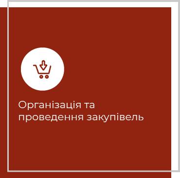 Організація та проведення закупівель